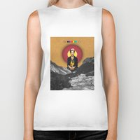 frida Biker Tanks featuring FRIDA by Estera Lazowska