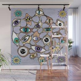 geodesic eyes Wall Mural