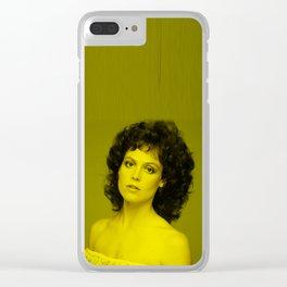 Sigourney Weaver - Celebrity (Florescent Color Technique) Clear iPhone Case