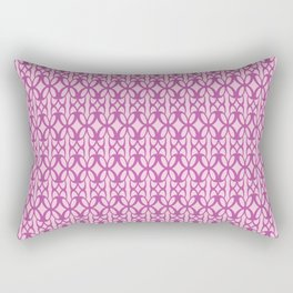 Mod Geometric Floral in Pink Rectangular Pillow