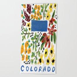 Colorado + Florals Beach Towel