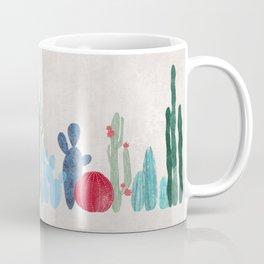 Cactus Garden on light background Coffee Mug