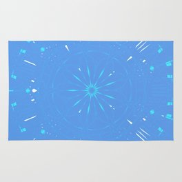 Psychadelic Space Mandala - Periwinkle Rug