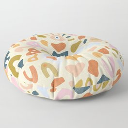 Abstract Paper Cuts Floor Pillow