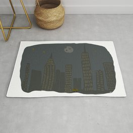 New York City Moon & Spider Man Rug