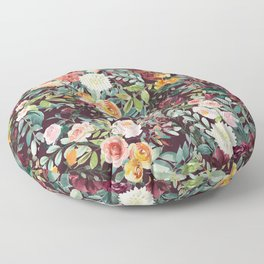 Fall Floral Floor Pillow