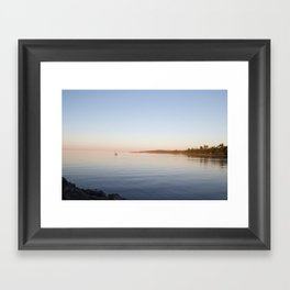 softness into the dark Framed Art Print