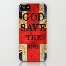 God Save The Queen London UK iPhone Case