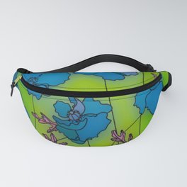 Neon Floral Composition Fanny Pack