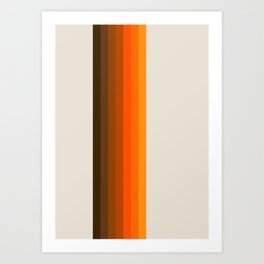 Retro Golden Rainbow - Straight Art Print
