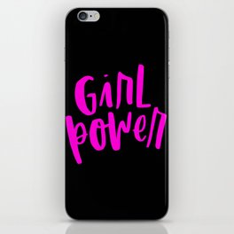 Girl Power 2 Pink and Black iPhone Skin