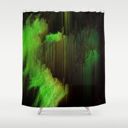 Ectoplasm - Abstract Glitchy Pixel Art Shower Curtain
