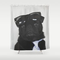 pug Shower Curtains featuring Pug by thePUGtographer