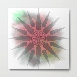Macedonian watercolor Metal Print