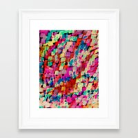 mineral Framed Art Prints featuring Mineral by Amy Sia