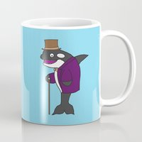 willy wonka Mugs featuring Free Willy Wonka by Dr. Spaceman40