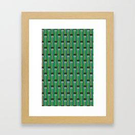 rainbow puking skulls on green Framed Art Print