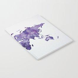 Purple World Map 01 Notebook