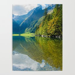 Seealpsee Lake Appenzell Alps Switzerland Poster