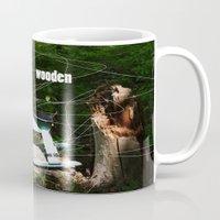 wooden Mugs featuring wooden by Dan Brennan