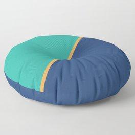 Mint & Dark Blue - oblique Floor Pillow