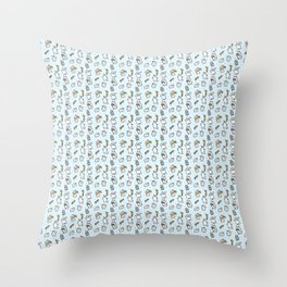 Repeat Rabbit Doodle Throw Pillow