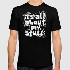 All about it. MEDIUM Mens Fitted Tee Black