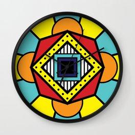 African Inspired Geometric Design Wall Clock