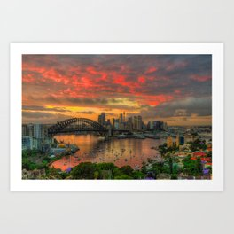 Oh What A Beautiful Morning - Sydney Harbour - The HDR Experience Art Print