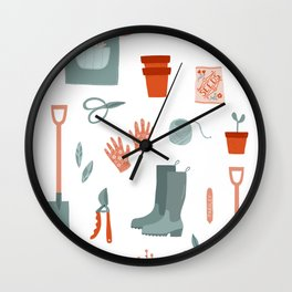 Gardening Things Wall Clock