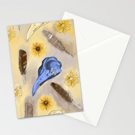 Susan in Feathers Stationery Cards