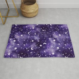 Zodiac Watercolor Ultraviolet Rug