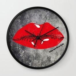 Kiss Me Scarlett Wall Clock