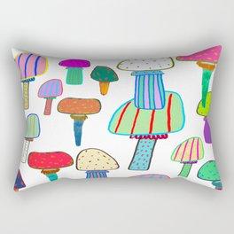 Mushrooms, mushroom print, mushroom art, illustration, design, pattern, Rectangular Pillow