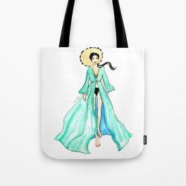 Watercolor Summer Tote Bag