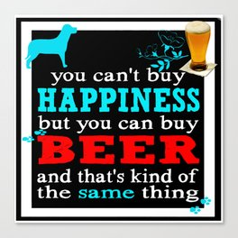 BEER AND HAPPINESS Canvas Print