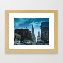 Driving Through Chicago Framed Art Print