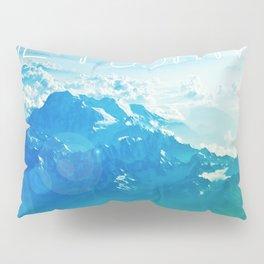 Large Be Positive Landscape Blue Print Poster Art Pillow Sham