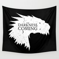 lotr Wall Tapestries featuring The darkness is coming by Li.Ro.Vi