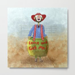 Rodeo Clown, AKA Bullfighter Metal Print