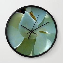 Blue Magnolia II Wall Clock