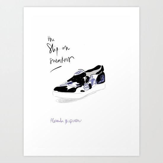 #theFIserie: Slip-on sneakers Art Print