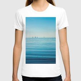 OCEAN - BOATS - WATER - SEA - PHOTOGRAPHY T-shirt