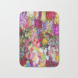 Vibrant Floral Garden Bath Mat