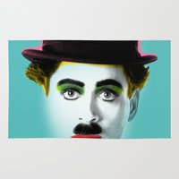charlie chaplin Area & Throw Rugs featuring charlie chaplin by mark ashkenazi