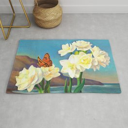 A Morning Greeting From Narcissus Flowers Rug