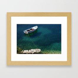 Greek boat Framed Art Print