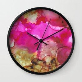 Alcohol Ink 'Avocado Toast' Wall Clock