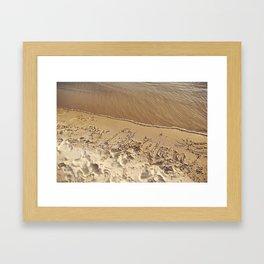 Merry Christmas Beach Framed Art Print