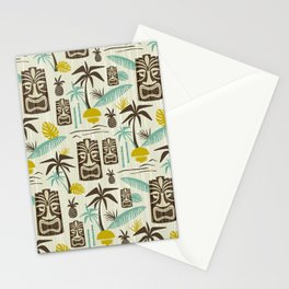 Island Tiki - Tan Stationery Cards